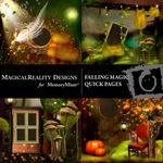 Falling Magic Quick Page QuickMix-$3.99 (MagicalReality Designs)