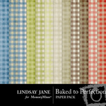 Baked to Perfection Plaid Paper Pack-$2.99 (Lindsay Jane)