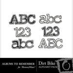Dirt Bike Alphabet Pack-$1.99 (Albums to Remember)