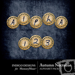 Autumn Nocturne Alphabet Pack-$0.99 (Indigo Designs)