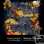 Autumn Nocturne Cluster Pack-$1.99 (Indigo Designs)