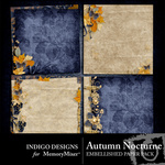 Autumn Nocturne Embellished Paper Pack-$2.99 (Indigo Designs)
