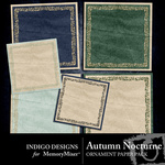 Autumn Nocturne Ornament Paper Pack-$2.99 (Indigo Designs)