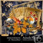 Autumn Nocturne Embellishment Pack-$2.99 (Indigo Designs)
