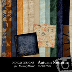 Autumn Nocturne Paper Pack-$3.99 (Indigo Designs)