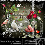Love Story Embellishment Pack MR-$3.49 (MagicalReality Designs)