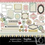 Sophia KL Embellishment Pack-$2.99 (Karen Lewis)