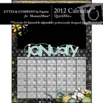 2012 Calendar Ettes QuickMix-$6.99 (Ettes and Company by Fayette)