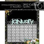 2012 Calendar Ettes QuickMix-$6.99 (Fayette Designs)