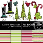 Red and Green Cheer Mini Pack-$1.99 (Lasting Impressions)