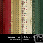 Christmas Traditions Paper Pack-$3.99 (Lindsay Jane)