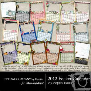 2012 4x6 pocket calendar qp medium
