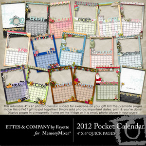 2012 4x6 pocket calendar qp medium