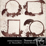 Season of Change Frames Brown-$1.99 (Indigo Designs)