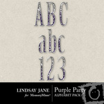 Purple Party Alphabet Pack-$0.99 (Lindsay Jane)