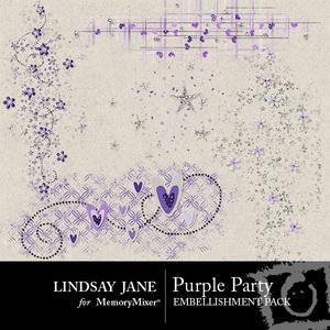Purple party scatterz medium