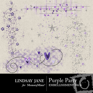 Purple party scatterz medium