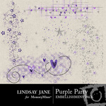Purple Party Scatterz Embellishment Pack-$1.99 (Lindsay Jane)