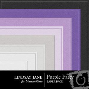 Purple party embossed pp medium