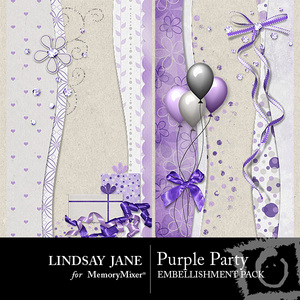 Purple party borders medium