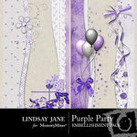 Purple Party Border Pack-$1.99 (Lindsay Jane)