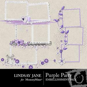 Purple party frames medium