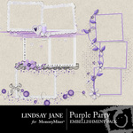 Purple Party Frame Pack-$1.99 (Lindsay Jane)