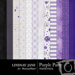Purple Party Paper Pack-$3.99 (Lindsay Jane)