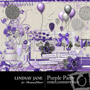 Purple party emb medium