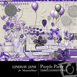 Purple Party Embellishment Pack-$3.49 (Lindsay Jane)