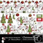 Christmas cats emb small