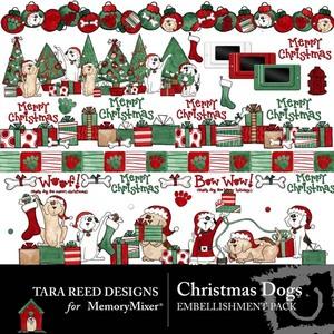 Christmas dogs emb medium