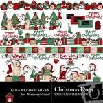 Christmas dogs emb small