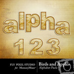 Birds and Apples Alphabet Pack-$0.99 (Fly Pixel Studio)
