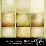 Birds and Apples Paper Pack-$3.99 (Fly Pixel Studio)