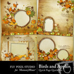 Birds and Apples Quick Page QuickMix-$3.50 (Fly Pixel Studio)