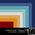 Happy Days Embossed Paper Pack-$2.49 (Lindsay Jane)