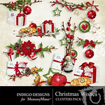 Christmas Wishes Cluster Pack-$1.99 (Indigo Designs)
