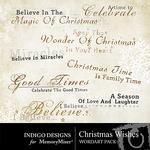 Christmas Wishes WordArt Pack-$1.49 (Indigo Designs)