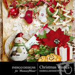 Christmas Wishes Embellishment Pack-$2.99 (Indigo Designs)