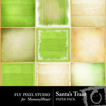 Santa Train Paper Pack-$3.99 (Fly Pixel Studio)