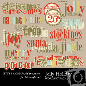 Jolly holiday wordart medium