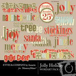 Jolly holiday wordart small