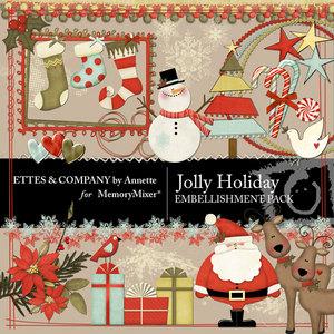 Jolly holiday emb medium