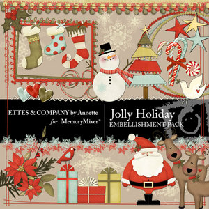 Jolly holiday emb medium