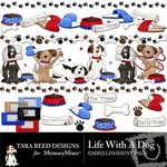 Life With A Dog Embellishment Pack-$1.49 (Tara Reed Designs)
