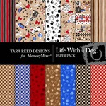 Life With A Dog Paper Pack-$2.09 (Tara Reed Designs)