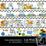 Life With A Cat Embellishment Pack-$2.99 (Tara Reed Designs)