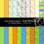 Life With A Cat Paper Pack-$2.99 (Tara Reed Designs)