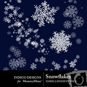 Snowflakes emb medium